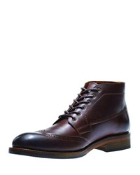 Wolverine Harwell Leather Wing Tip Boot Brown