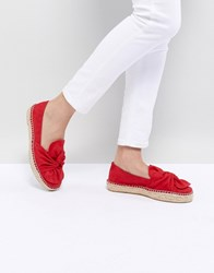 Stradivarius Twist Front Espadrille Red