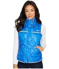 Columbia Harborside Diamond Quilted Vest Vivid Blue Cherry Blossom Women's Vest
