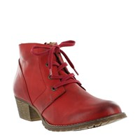 Marta Jonnsson Leather Lace Up Ankle Boots Red