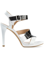 Armani Jeans Buckled Stiletto Sandals White