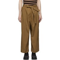 Naked And Famous Denim Ssense Exclusive Tan Wide Trousers