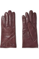 Iris And Ink Carrie Leather Gloves Claret