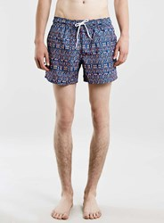 Topman Aztec Print Sublimation Shorts Multi
