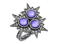 Rebecca Minkoff Rock N Roll Statement Ring Gunmetal Lavender Ring Silver
