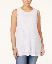 Alfani Plus Size Layered Tank Top Only At Macy's Bright White