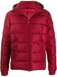 Save The Duck Quilted Zip Front Jacket Red