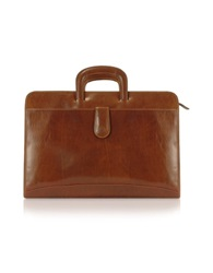 Chiarugi Handmade Brown Genuine Italian Leather Portfolio Briefcase
