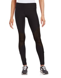 Steve Madden Mesh Inset Leggings Black