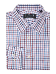 New And Lingwood Cuxwold Twill Check Shirt Red