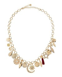 Lydell Nyc Mixed Charm Necklace W Crystals