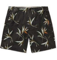 J.Crew Printed Cotton Ripstop Shorts Black