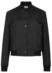 Kenzo Black Tiger Applique Bomber Jacket