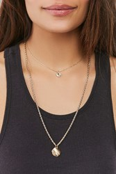 Urban Outfitters Jade Double Chain Layering Necklace Gold
