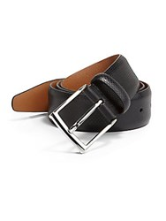 Saks Fifth Avenue Black French Rimbaud Leather Belt Black