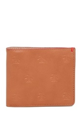 Original Penguin Jimmy Bifold Leather Wallet Brown