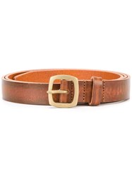 Dsquared2 Worn Effect Skinny Belt Brown