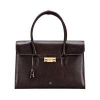 Maxwell Scott Bags Luxury Italian Crafted Brown Leather Business Handbag