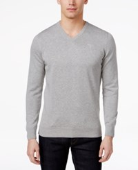 Barbour Men's V Neck Pima Cotton Sweater Grey Marl