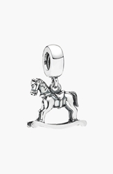 Pandora Design Rocking Horse Dangle Charm Silver