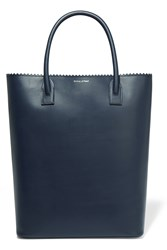 Mother Of Pearl Pentley Leather Tote Blue