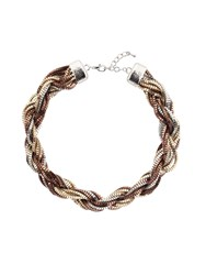Chesca Twisted Mixed Metal Necklace