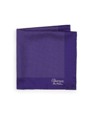 Charvet Silk Pocket Square Purple