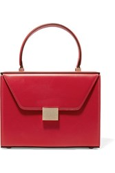 Victoria Beckham Vanity Leather Tote Red