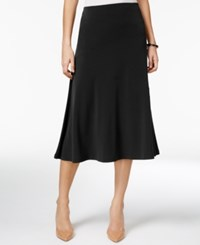 Jm Collection Petite Diagonal Seam Midi Skirt Only At Macy's Deep Black
