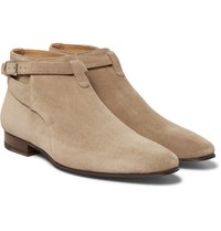 Saint Laurent Suede Jodhpur Boots Brown