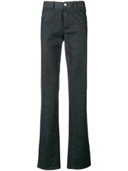 Brioni Five Pocket Denim Trousers Blue