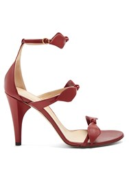 Chloe Mike Leather Sandals Dark Red