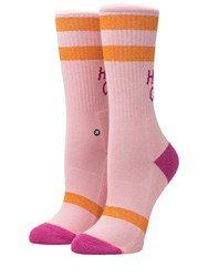 Stance Heaps Cool Cotton Blend Socks Pink