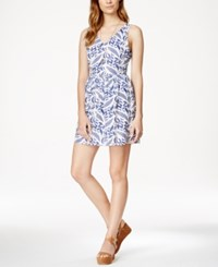 Maison Jules Printed Lace Detail Fit And Flare Dress Only At Macy's