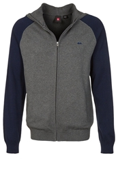 Quiksilver Creedence Cardigan Medium Grey Heather Dark Gray