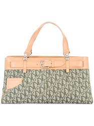Christian Dior Vintage Trotter Tote Bag Nude And Neutrals