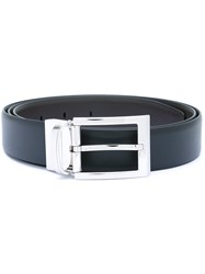Ermenegildo Zegna Silver Tone Buckle Belt Men Calf Leather 110 Brown
