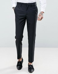 French Connection Slim Fit Black Tuxedo Trousers