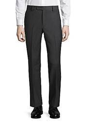 Saks Fifth Avenue Wool Mini Houndstooth Dress Pants Grey