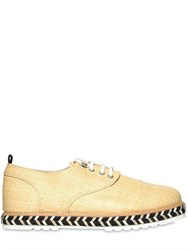 Farewell Lightweight Raffia Lace Up Shoes