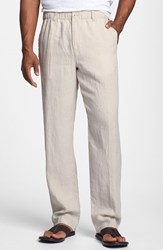 Men's Tommy Bahama 'New Linen On The Beach' Easy Fit Pants Natural Linen