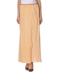 Le Mont St Michel Long Skirts Orange