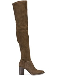 Le Silla Over The Knee Boots Brown