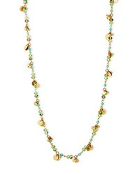 Lonna And Lilly Beaded Disc Scatter Necklace Gold