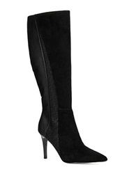 Adrianna Papell Portia Contrast Boots Black