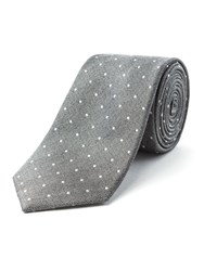 Racing Green Boston Spot Design Tie Grey