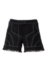 Andrew Gn Frayed Mini Shorts Black