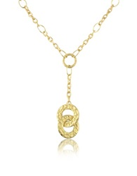 Torrini Insieme Hammered 18K Gold Drop Necklace