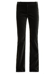 Raey Flared Velvet Trousers Grey