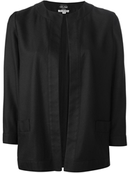 Celine Vintage Open Front Jacket Black